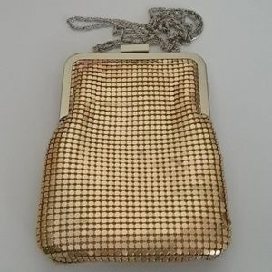 Handbags - Evening Bag, Golden Mesh